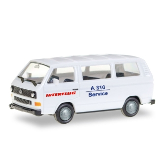 VW T3 Bus - Interflug - A 310 Service - Automodell - Miniaturmodell - 1/87