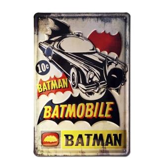 Batman - Batmobile - DC Comics - Superhelden - Blechschild