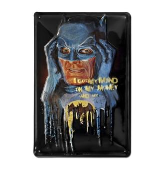 Batman - I Got My Mind On My Money - DC Comics - Superhelden - Blechschild