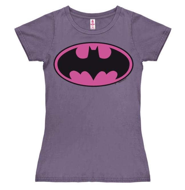 BATMAN - LOGO (PINK) lavender   L