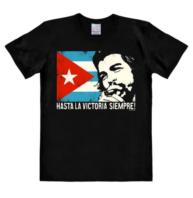 CHE GUEVARA - CUBAN FLAG black   XXL