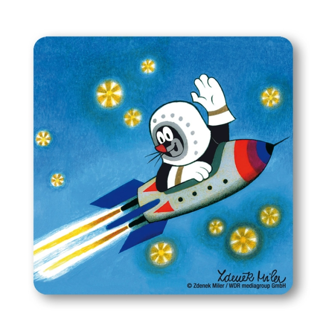 Maulwurf - Rakete Weltraum farbig | OS