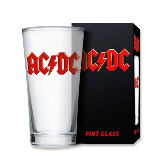 Pint Glass - AC/DC Logo