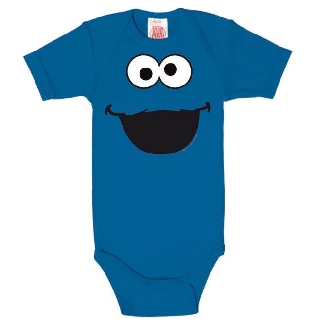 SESAME ST.FACES-COOKIE MONSTER azure blue | 74