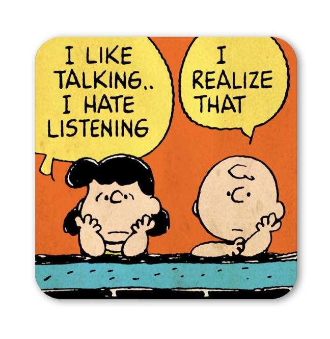 PEANUTS - CHARLIE & LUCY TALKI