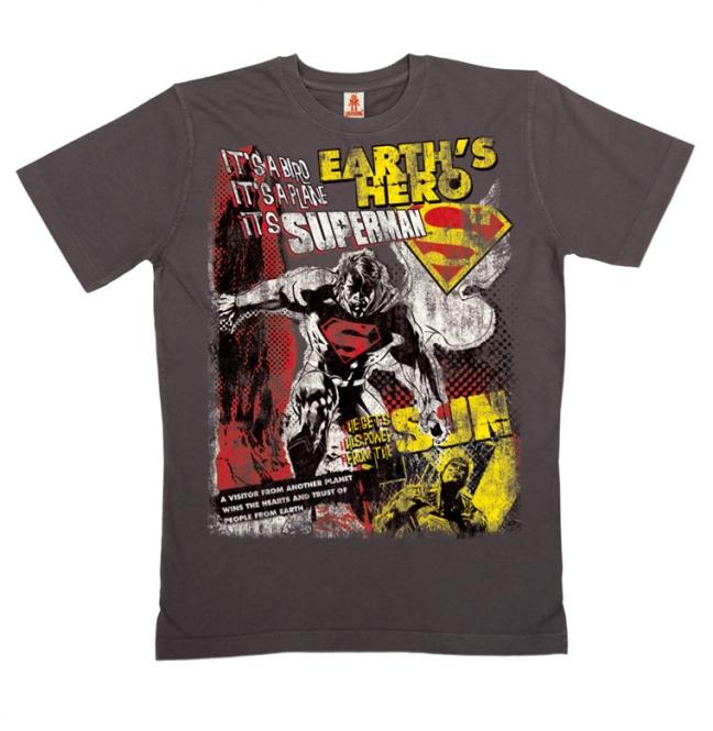 SUPERMAN - EARTH'S HERO graphite   XXL