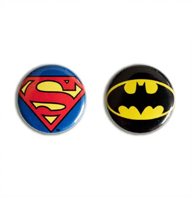 "BUTTON SET ""SUPERMAN / BATMAN"""
