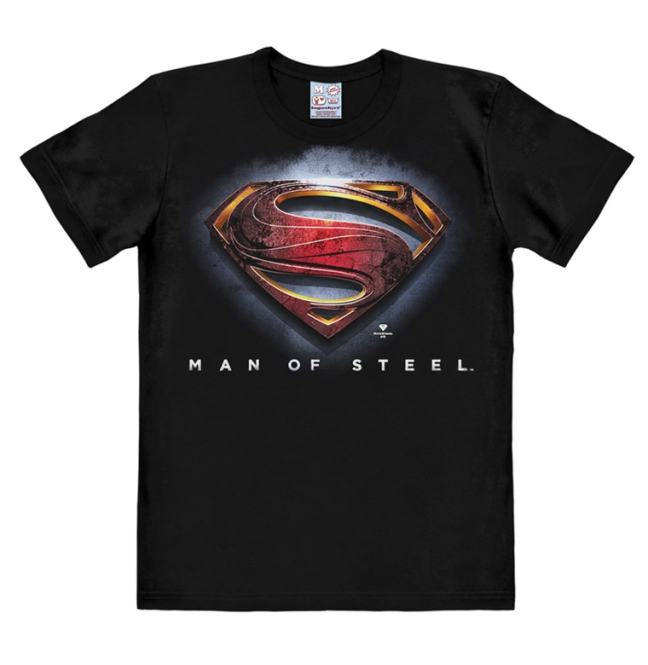 SUPERMAN - MAN OF STEEL - LOGO black | XS