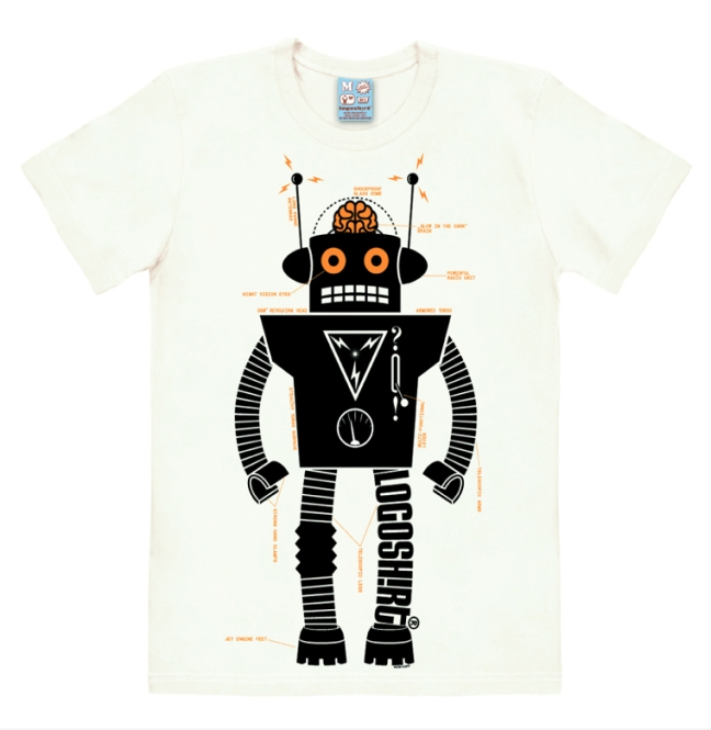 LOGOSHIRT - ROBOTER almost white | L