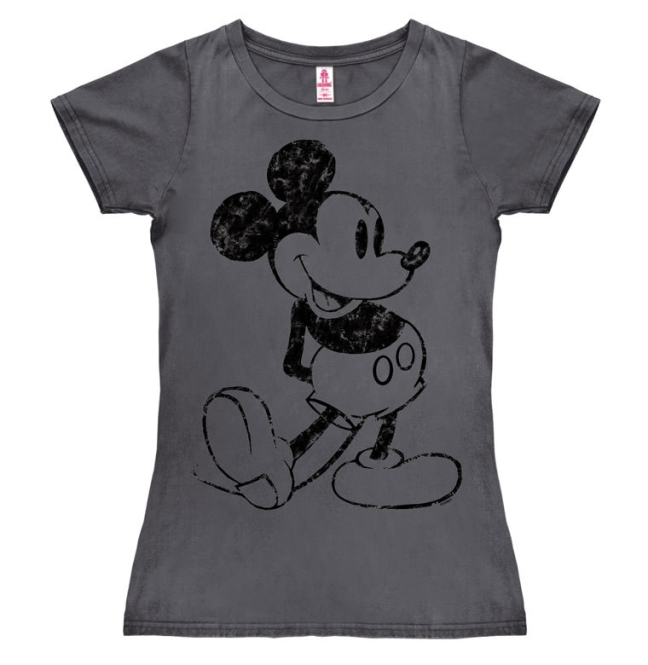mickey mouse t shirt micky maus disney frauen shirt girls shirt grau. Black Bedroom Furniture Sets. Home Design Ideas
