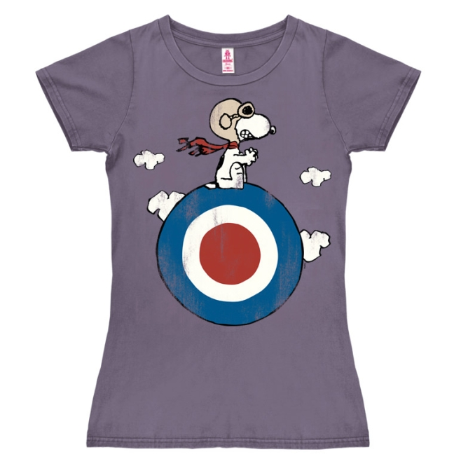 PEANUTS - SNOOPY/TARGET lavender | XS