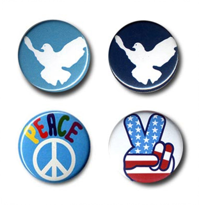 "BUTTON SET ""PEACE MOVEMENT"""