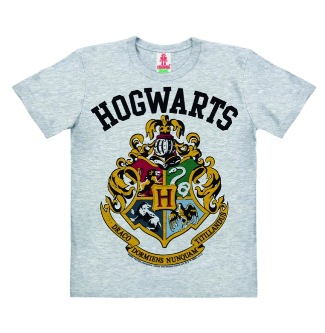 HARRY POTTER - HOGWARTS LOGO grey melange | 104