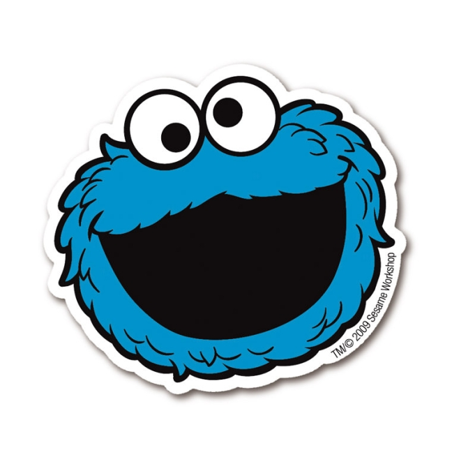 Sesame St. - Cookie Monster farbig | OS