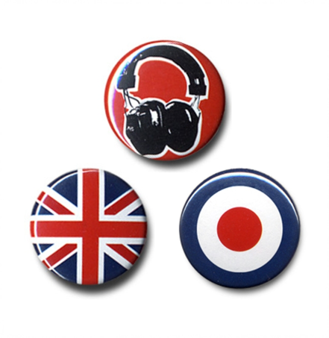 "BUTTON SET ""SOUND ADDICT"""