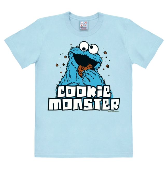 SESAME ST.- COOKIE MONSTER light blue | XXL