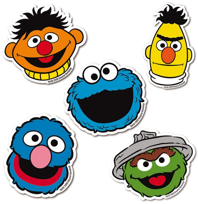 SESAME ST. - FACES - LOGO SET farbig | OS