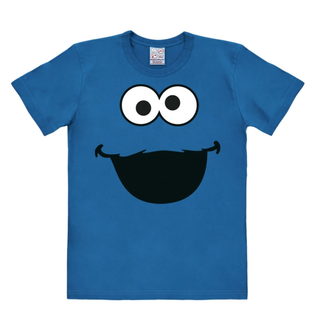 SESAME ST.FACES-COOKIE MONSTER azure blue | L