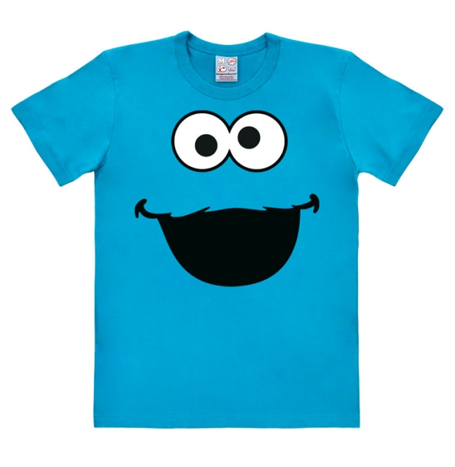 SESAME ST.FACES-COOKIE MONSTER turquoise | XL