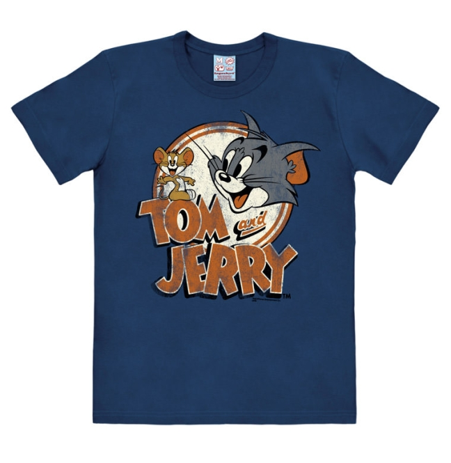 TOM AND JERRY - LOGO navy | L