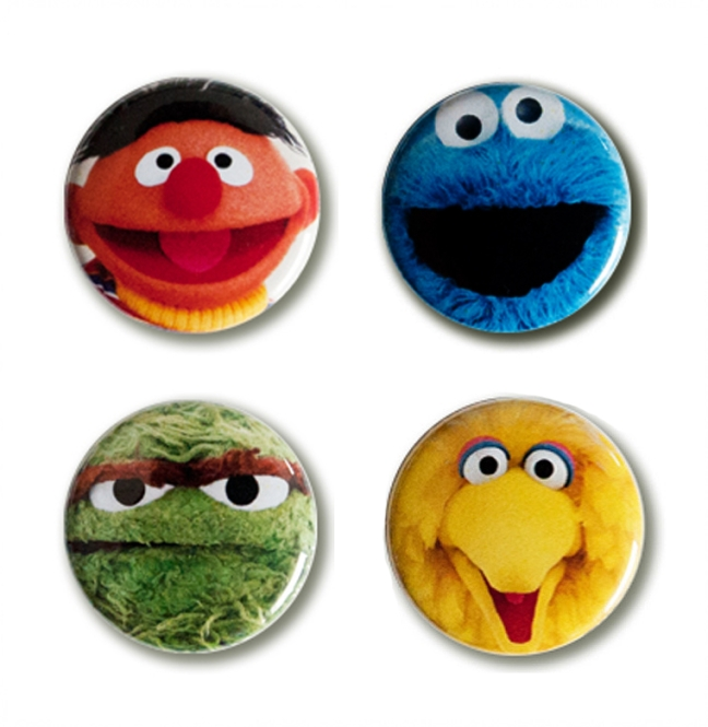 BUTTON SET SESAME STREET