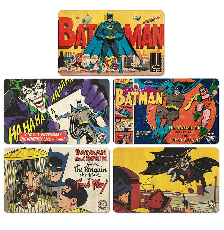 batman fr hst cksbrettchen set batman comic batman set b. Black Bedroom Furniture Sets. Home Design Ideas