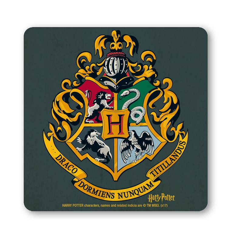 hogwarts logo harry potter wappen film untersetzer. Black Bedroom Furniture Sets. Home Design Ideas