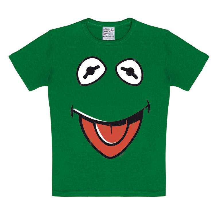 kinder t shirt kermit der frosch muppet show faces logoshirt. Black Bedroom Furniture Sets. Home Design Ideas