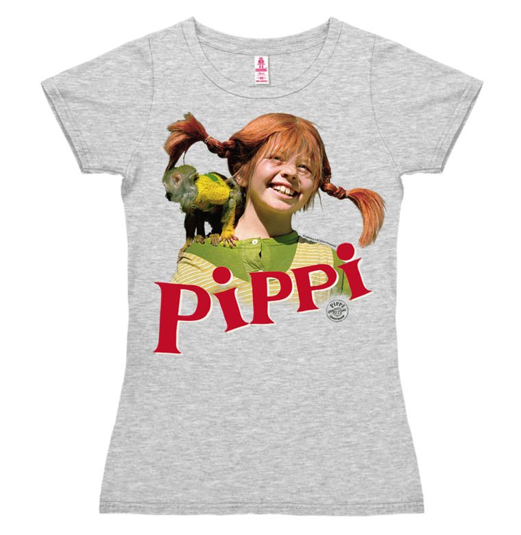 frauen t shirt pippi langstrumpf herr nilsson logoshirt. Black Bedroom Furniture Sets. Home Design Ideas