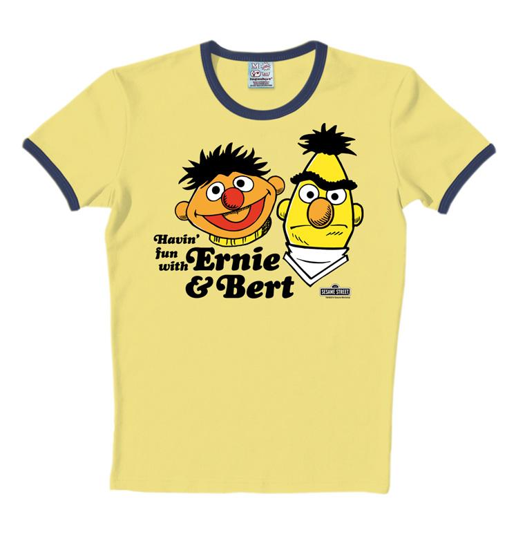Sesamstrasse Bert Ernie und Bert Magnet LOGOSHIRT Kühlschrankmagnet